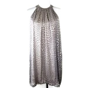 rory beca sleeveless dress heart metallic size M